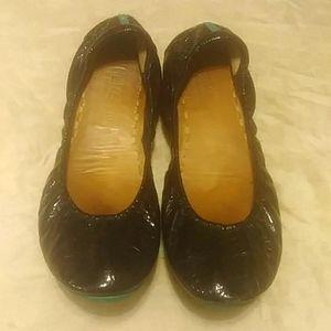 Tieks Patent Obsidian Leather Ballet Flats.